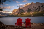 Summer sunsets on Minnewanka